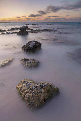 Abstract Beach Landscape Photograph - Heart Of Stone by Adam Romanowicz