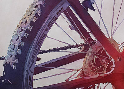Spokes Painting - Heart Of The Bike by Jenny Armitage