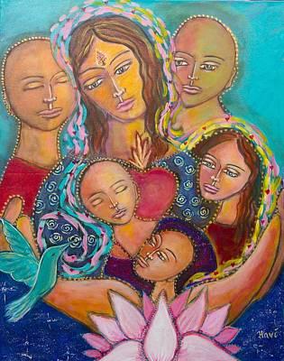 Heart Of The Family Print by Havi Mandell