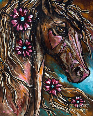 Filly Painting - Heart Of The Matter by Jonelle T McCoy
