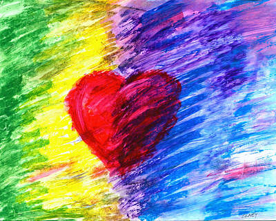 Heart Painting - Heart On The Border by Carolyn Olney
