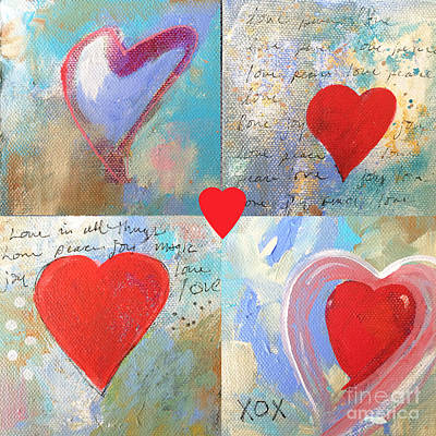 Heart Images Painting - Heart Paintings by Robin Maria  Pedrero