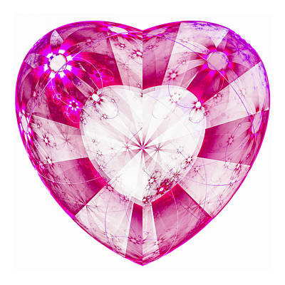 Heart Digital Art - Heart Pink Red And Violet by Matthias Hauser