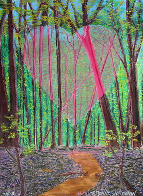 Portal Mixed Media - Heart Portal In The Woods by R Neville Johnston