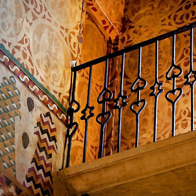 Heart Railing Print by Art Block Collections
