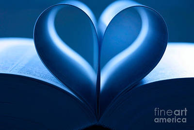 Heart-shaped Pages, Book Print by Jens C. Schmitz
