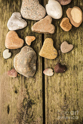 Heart Shaped Rock Photograph - Heart Shaped Rocks by Diane Diederich