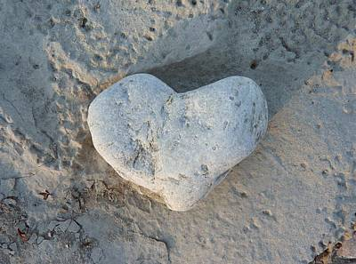 Heart Shaped Rock Photograph - Heart Stone Photography by Rachel Stribbling