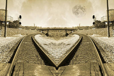 Train Tracks Photograph - Heart Tracks by Betsy Knapp
