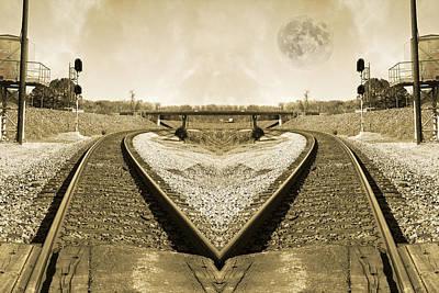 Evening Scenes Photograph - Heart Tracks by Betsy C Knapp