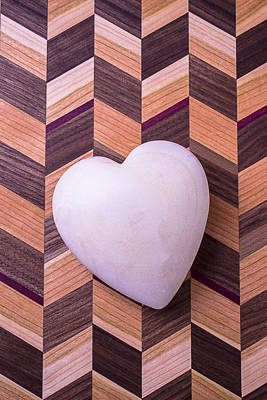 Heart Shaped Rock Photograph - Heart Wood by Garry Gay