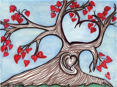 Heartfelt Print by Minnie Lippiatt