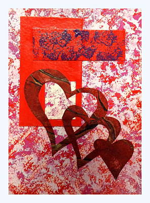Red Abstract Mixed Media - Heartfelt Thanks by Darren Robinson