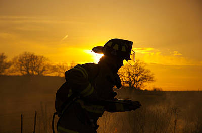 Fireground Photograph - Heartland Firefighter by Matt Perkins