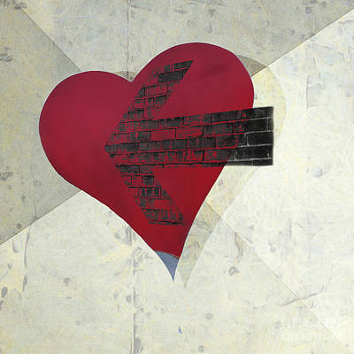 Hearts 7 Square Print by Edward Fielding