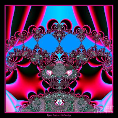 Fractals Digital Art - Hearts Ballet Curtain Call Fractal 121 by Rose Santuci-Sofranko