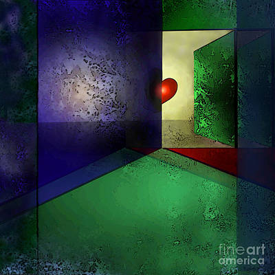 Abstract Digital Art - Heart's Desire by Carol Jacobs