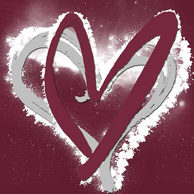 Abstract Digital Mixed Media - Hearts For Hearts 12 by Melissa Smith