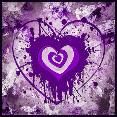Amethyst Digital Art - Hearts For Hearts 7 by Melissa Smith