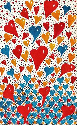Hearts For You Print by Joy Bradley