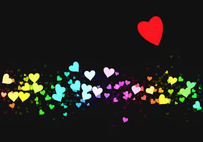 Valentines Day Digital Art - Hearts Trail by Daniel Hagerman