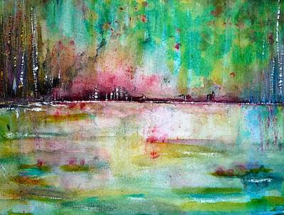 Contemplative Painting - Heartsong by Dawn Derringer