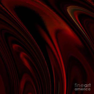 Abstract Digital Art - Heat Rings by Patricia Kay
