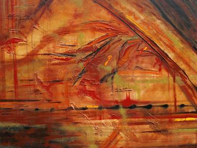 Mystic Desert Painting - Heat Wave by Denise Peat