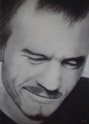 Heath Ledger Painting - Heath Ledger by Jake Rogers