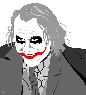 Heath Ledger Digital Art - Heath Ledger The Joker by Paul Dunkel