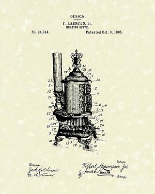 Heating Stove 1895 Patent Art Print by Prior Art Design