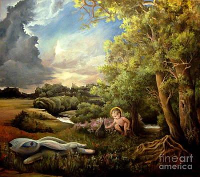 Tree Roots Painting - Heaven by Mikhail Savchenko
