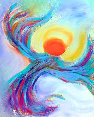 Digital Abstract Art Painting - Heaven Sent Digital Art Painting by Robyn King