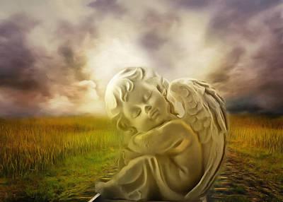 Heavenly Angels Vintage Print by Georgiana Romanovna