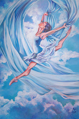 Dancing Painting - Heavenly Dance by Tamer and Cindy Elsharouni