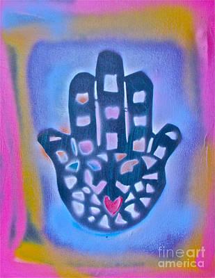 Moral Painting - Heavenly Hamza 1 by Tony B Conscious