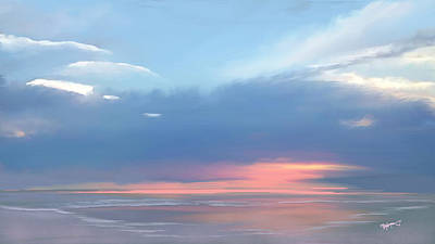 Ocean Digital Art - Heavenly Morning by Anthony Fishburne