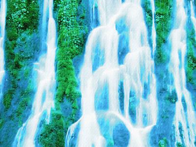 Landscapes Digital Art - Heavenly Veil by VRL Art