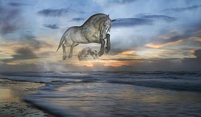 Topsail Island Mixed Media - Heavens In The Sky by Betsy Knapp