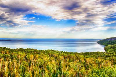 Heavens Over Lake Superior Print by Bill Tiepelman