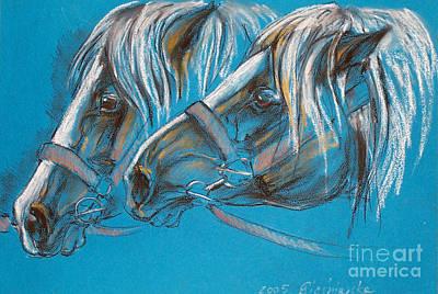 Heavy Horses Print by Angel  Tarantella