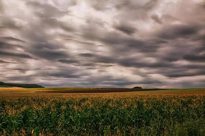 Heavy Skies Rich Land Print by Eti Reid