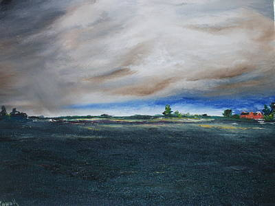 Bog Painting - Heavy With Rain by Conor Murphy