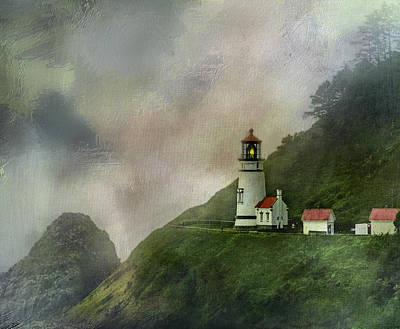 Heceta Head Lighthouse Florence Oregon Print by Diane Schuster
