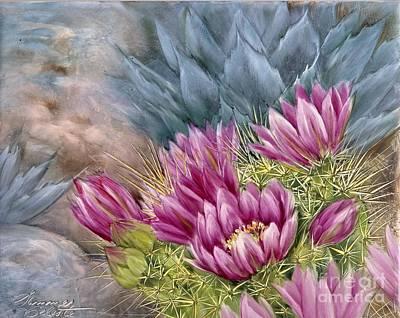 Hedgehog In Bloom Print by Summer Celeste