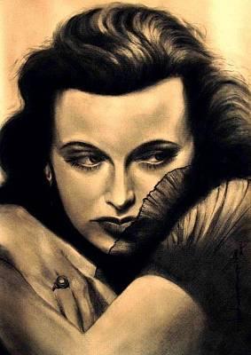 Grace Kelly Painting - Hedy Lamar by Ashok Karnik