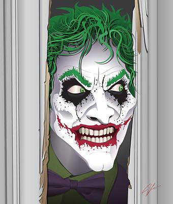 Heeeeeeeres Joker Print by James Lewis