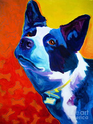 Cattle Dog Painting - Heeler - Piper by Alicia VanNoy Call