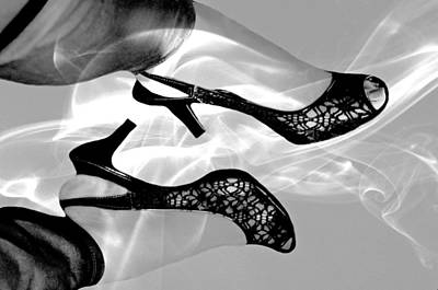 Black Lace Photograph - Heels by Diana Angstadt