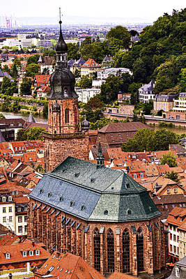 Window Photograph - Heidelberg Church Of The Holy Spirit by Marcia Colelli